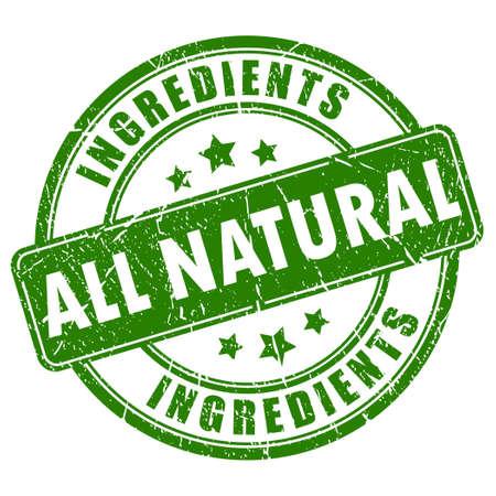 Alle natürlichen Zutaten Vektor-Briefmarke