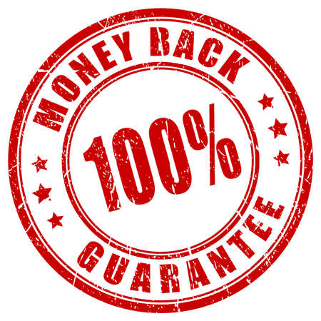 Money back 100 guarantee stamp Stok Fotoğraf - 39733825