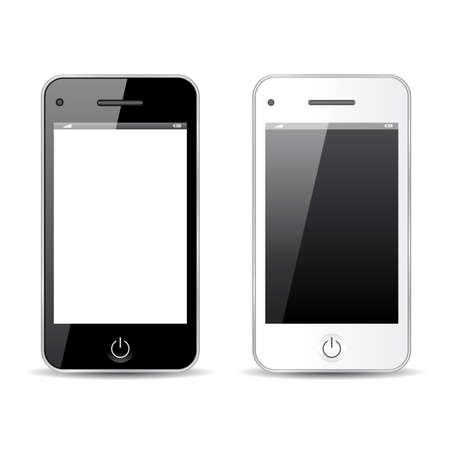 Mobile phone vector illustration, abstract model Vector