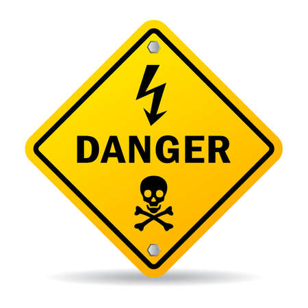electricity danger of death: Danger sign