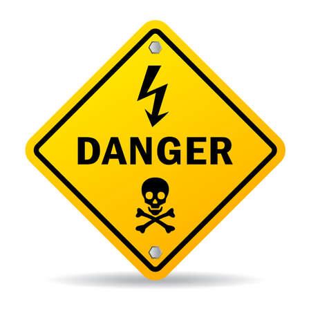 simbol: Pericolo segno Vettoriali