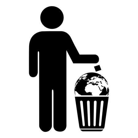 Do not litter concept