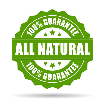 guarantee seal: Natural guarantee icon Illustration
