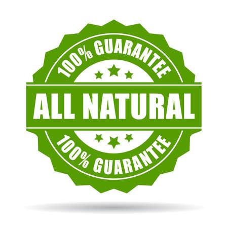 Natural guarantee icon Illustration
