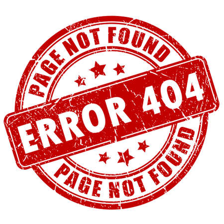 Error 404 stamp Vector