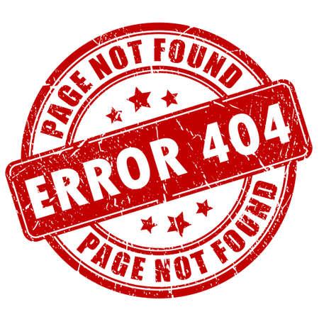 error message: Error 404 stamp