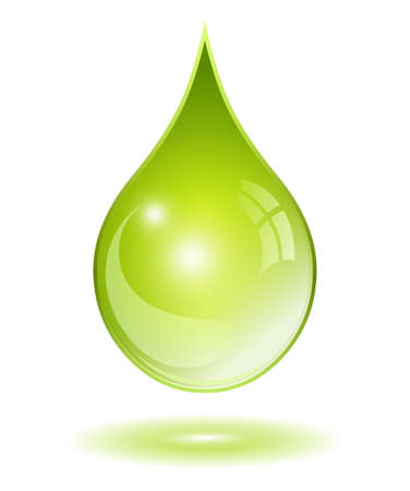 bio fuel: Natural oil drop Illustration