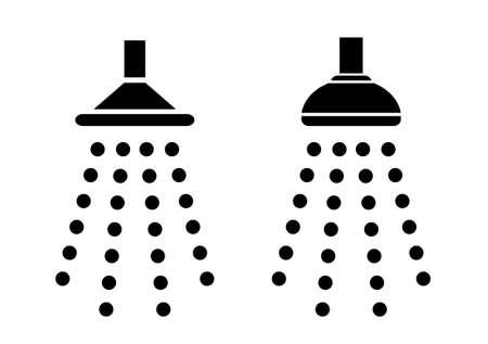 シャワーのアイコン  イラスト・ベクター素材
