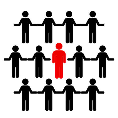 群衆と個人  イラスト・ベクター素材