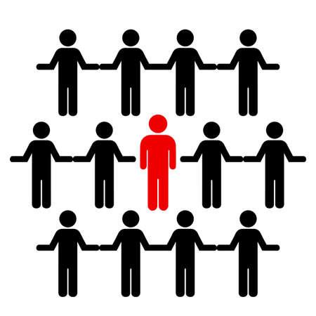 Crowd und individuelle Vektorgrafik