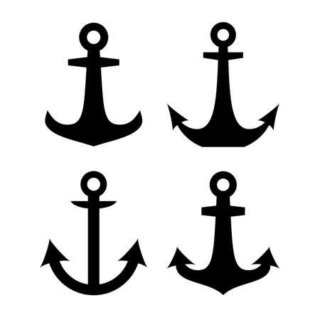 anchored: Anchor vector sign Illustration