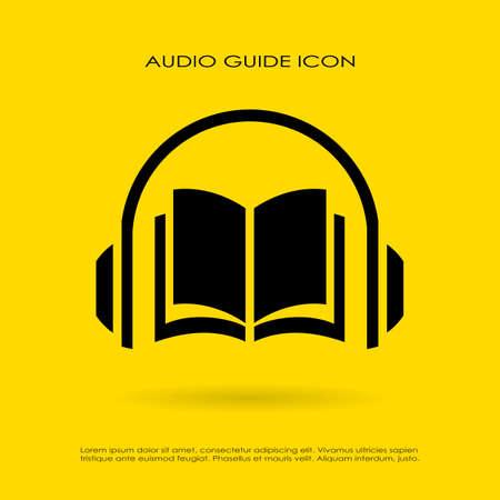 vzdělání: Audioprůvodce icon Ilustrace
