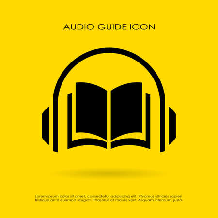 marca libros: Icono de guía de audio