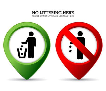Do not litter sign