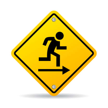 exit emergency sign: Emergency exit sign Illustration
