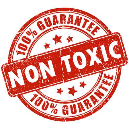 non toxic: Sello no t�xico Vectores