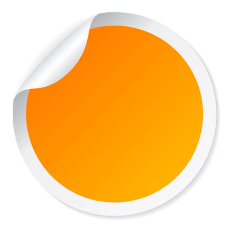 Yellow round sticker Vettoriali