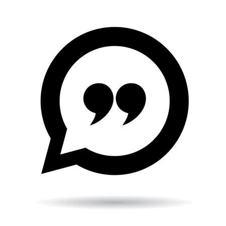 burbuja: Cita icono Vectores