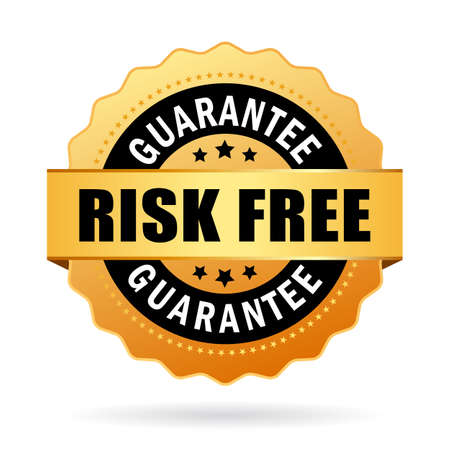 free backgrounds: Risk free business icon