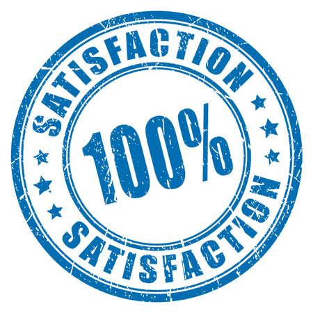 Satisfaction guarantee rubber stamp
