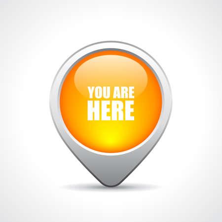 world location: Location pin button