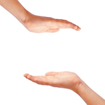 manos: Protecci�n de las manos Foto de archivo