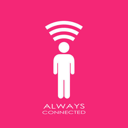 connected idea: Always connected icon