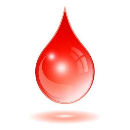 血アイコンのドロップ  イラスト・ベクター素材