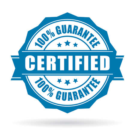 sellos: Etiqueta del producto certificado Vectores