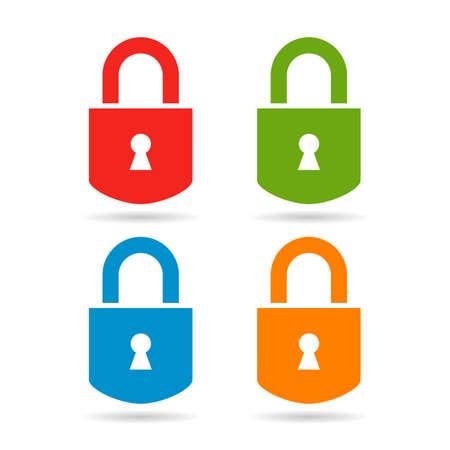 Lock icons set