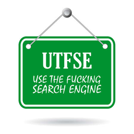 slang: UTFSE - use search engine, web slang expression