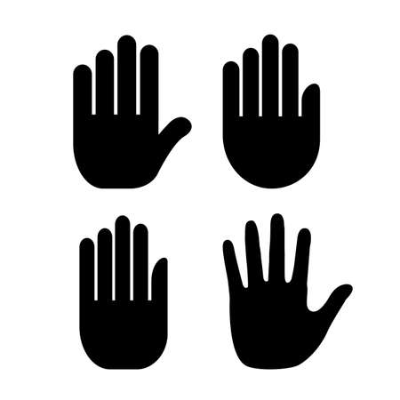 close icon: Hand palm icon