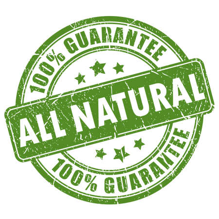 Natural guarantee stamp Vector