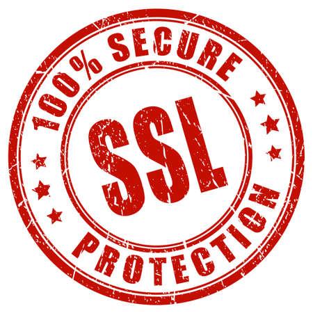 ssl: Ssl secure protection stamp Illustration