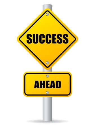 be happy: Success ahead road sign