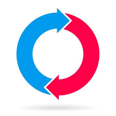 loop: Cycle loop chart Illustration