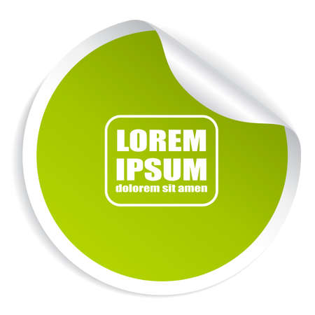 sticker vector: Green round sticker