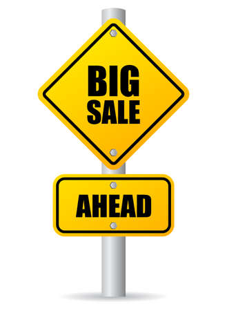clearence: Big sale sign Illustration