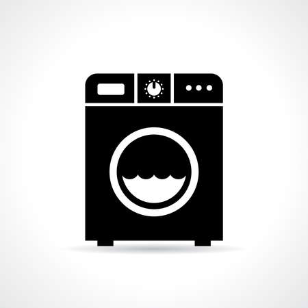 laundry machine: Laundry machine icon Illustration