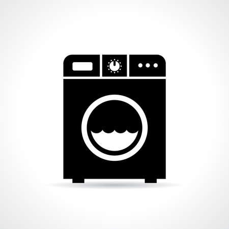 Laundry machine icon Illustration