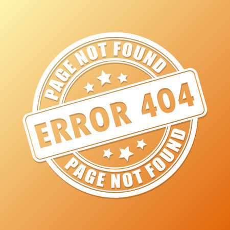 Page not found stamp Vector