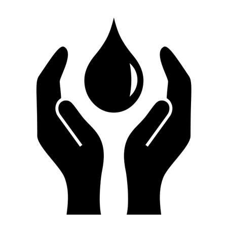 Apoyando las manos icono Foto de archivo - 40695830