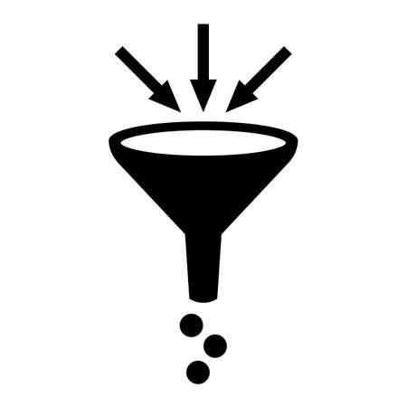 sifting: Filter funnel symbol