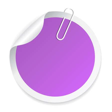 sticker vector: Blank round vector sticker