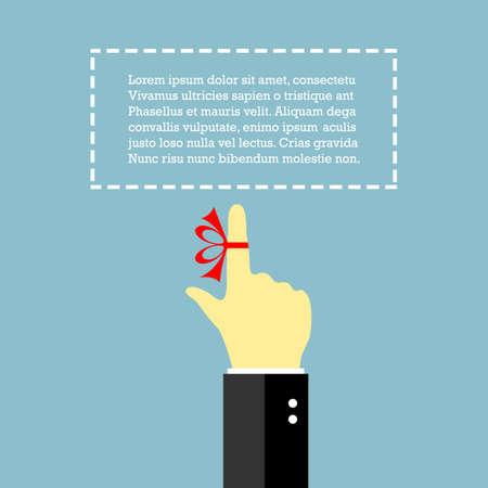 Finger avec de la ficelle, une affiche de rappel Vecteurs