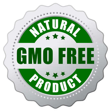 non: Gmo free natural product Illustration