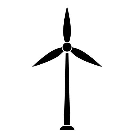 Windturbine pictogram Stock Illustratie