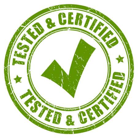 Geprüft und zertifiziert Stempel
