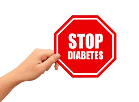 diabetes mellitus: Stop diabates sign Stock Photo