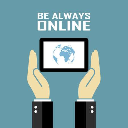 Be always online poster Vector